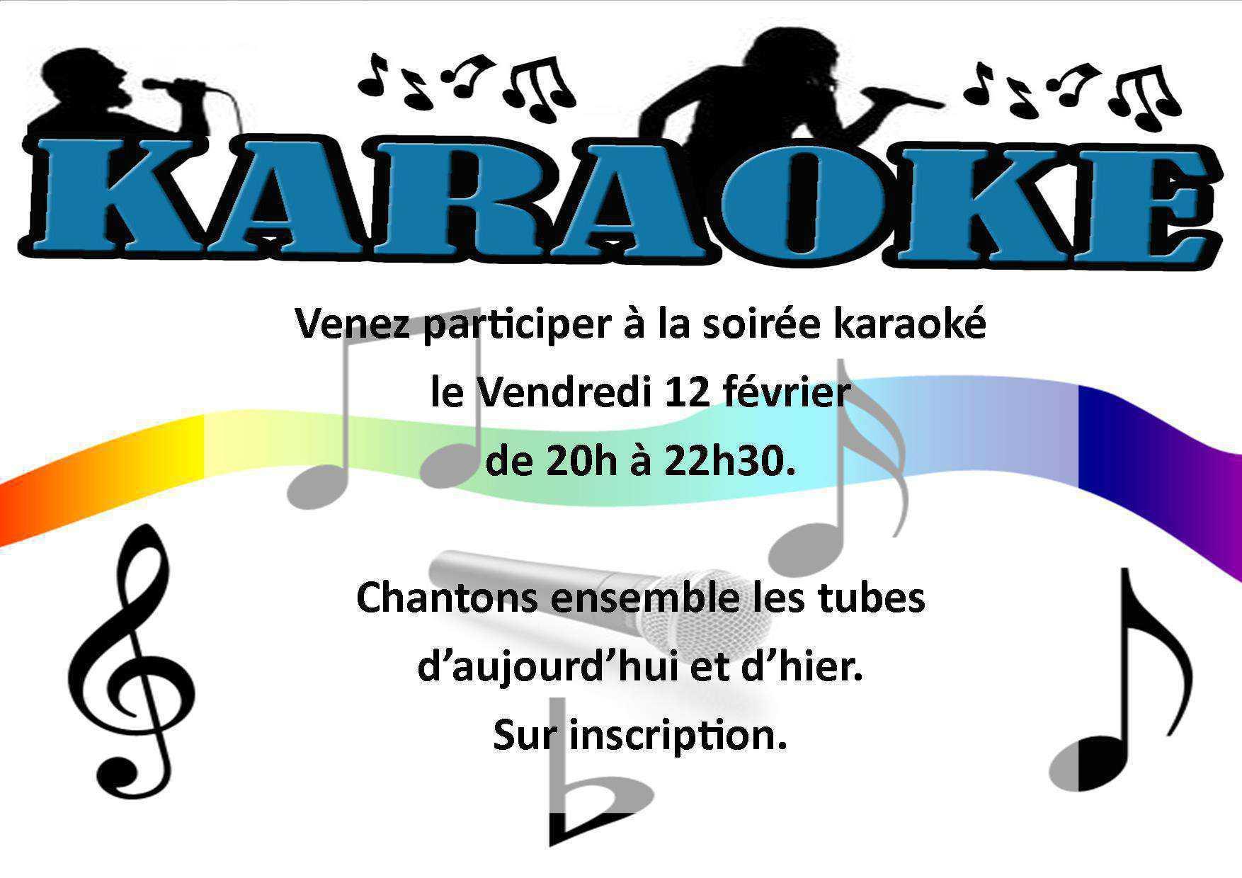Soirée karaoké le 12 février